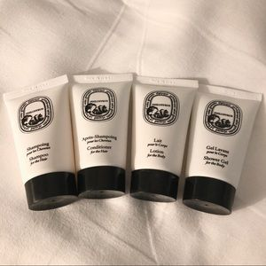 New Diptyque Travel Products Lotion Shampoo Sept